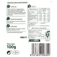 Salchichón ibérico lonchas - Informació nutricional - es