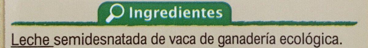 Leche UHT semi desnatada - Ingredientes