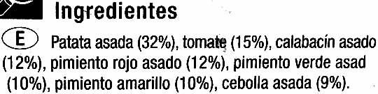 Parrillada de verduras congelada - Ingredientes
