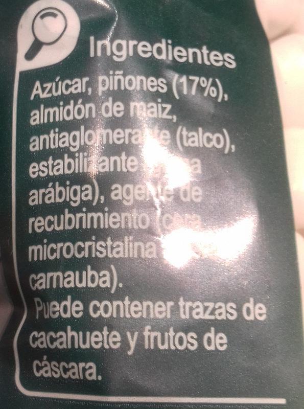 Piñones - Ingredientes