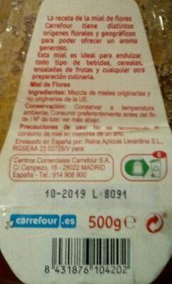 Miel antigoteo - Ingredientes - es