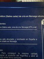 Salmón noruego - Ingredienti - es