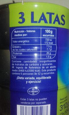 Atún claro - Informations nutritionnelles - es