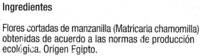 Manzanilla dulce en bolsitas - Ingredientes