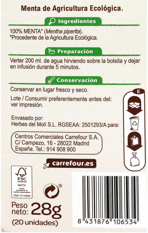 Menta carrefour - Información nutricional - es