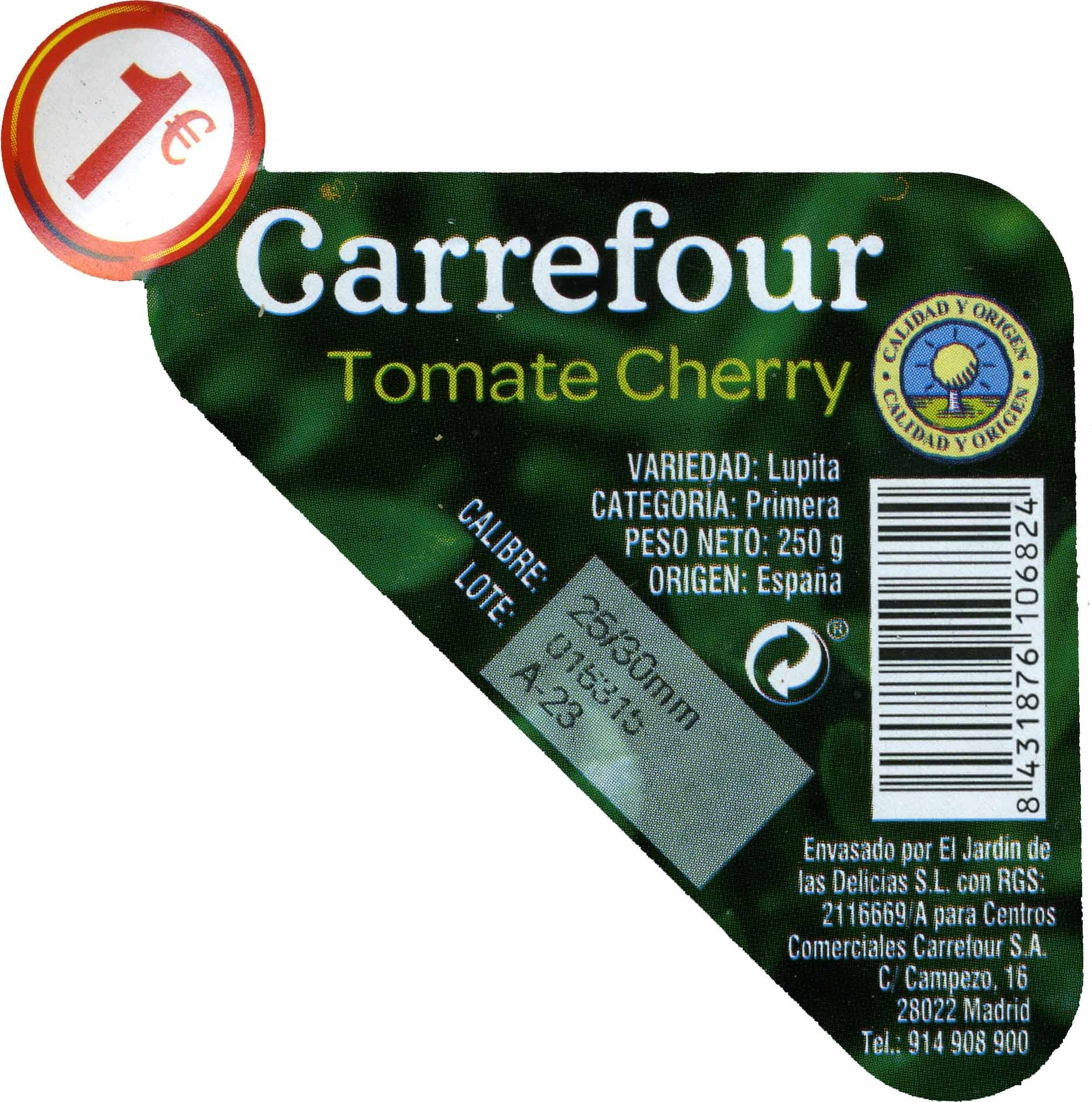 Tomates cherry - Ingredientes - es