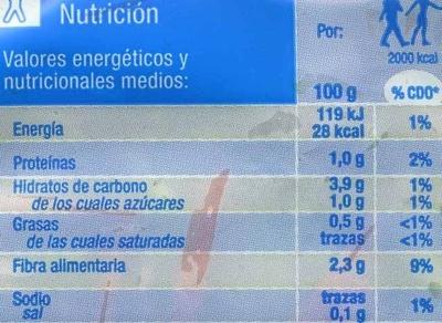Ensalada Línea - Nutrition facts