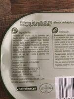 Pim rell bac - Ingredientes - es