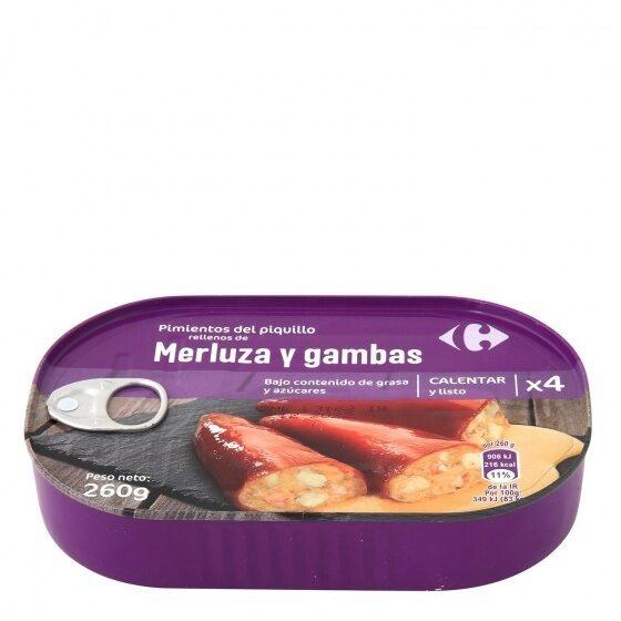 Pimientos del piquillo rellenos merluz/gambas - Producto - es