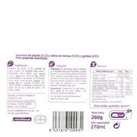 Pimientos del piquillo rellenos merluz/gambas - Información nutricional - es