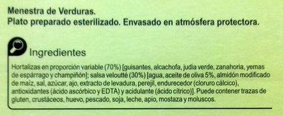Menestra de verduras - Ingredientes - es
