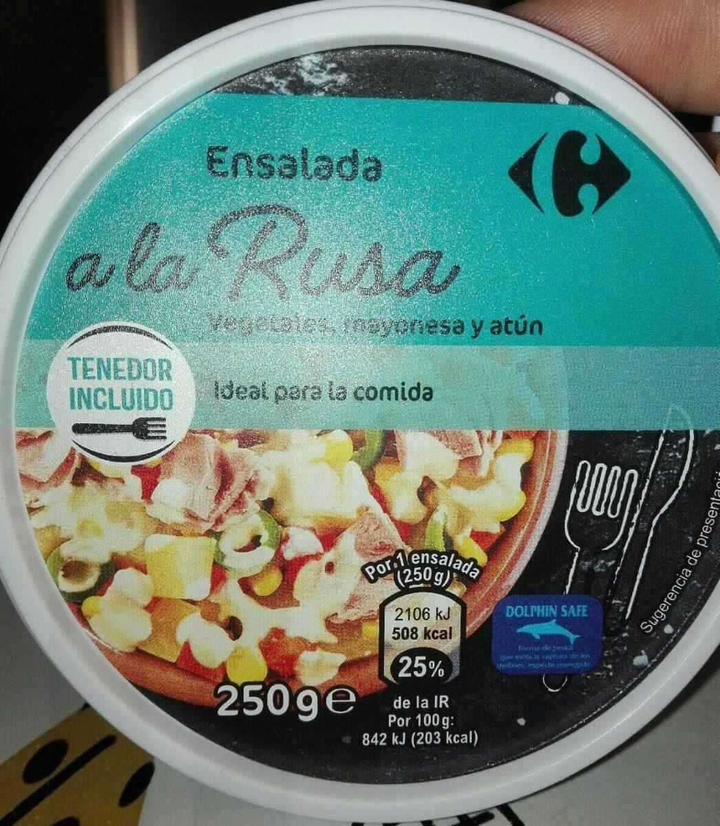 Ensalada a la RusaVegetales, mayonesa y atún - Producto - es