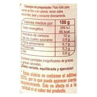 Alub.cocida - Información nutricional - es