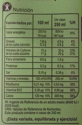 Bebida de soja chocolate - Nutrition facts