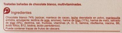 Galleta multivitaminada chocolate blanco - Ingredientes - es