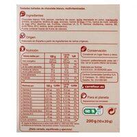 Galleta multivitaminada chocolate blanco - Información nutricional - es