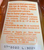 Miel de Azahar - Ingredientes - es