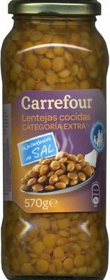 Lentejas cocidas con bajo contenido en sal - Producte
