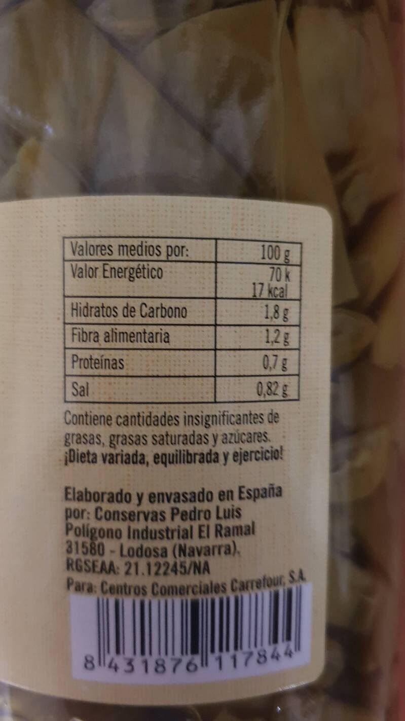 Judias verdes - Informations nutritionnelles - es