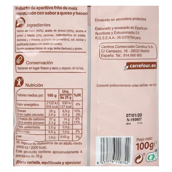 Konos - Información nutricional - es