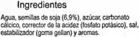 Bebida de soja - DESCATALOGADO - Ingredientes