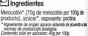 """Mermelada de melocotón ecológica """"Carrefour Bio"""" - Ingredients - es"""