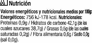 "Mermelada de melocotón ecológica ""Carrefour Bio"" - Informació nutricional - es"