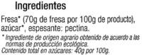 Mermelada de fresa ecológica - Ingredients - es