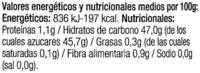 Mermelada de fresa ecológica - Informació nutricional - es