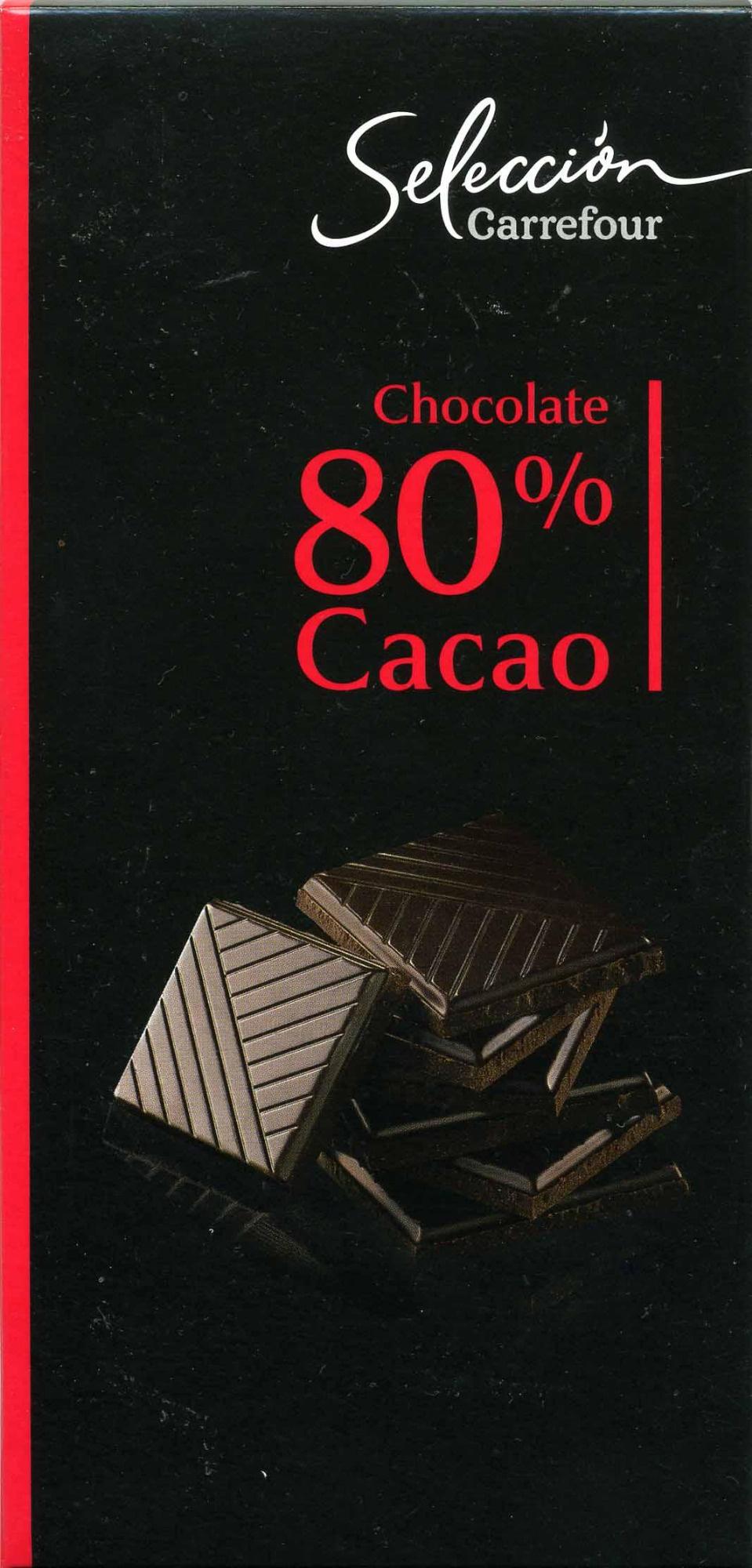 Selección - Chocolate negro 80% cacao - Producto