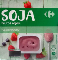 Postre de soja frutos rojos - Product - es