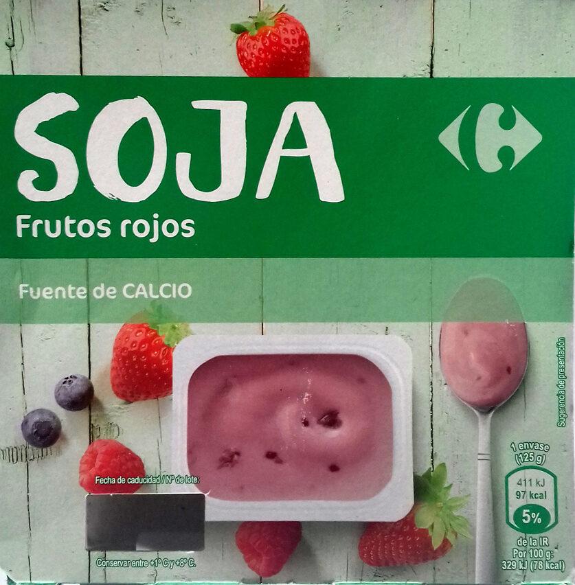 Postre de soja frutos rojos - Producto - es