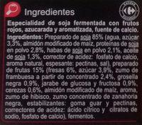Especialidad vegetal Soja Frutos rojos - Ingredientes