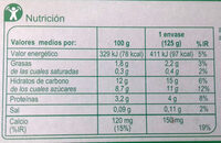 Postre de soja frutos rojos - Voedingswaarden - es