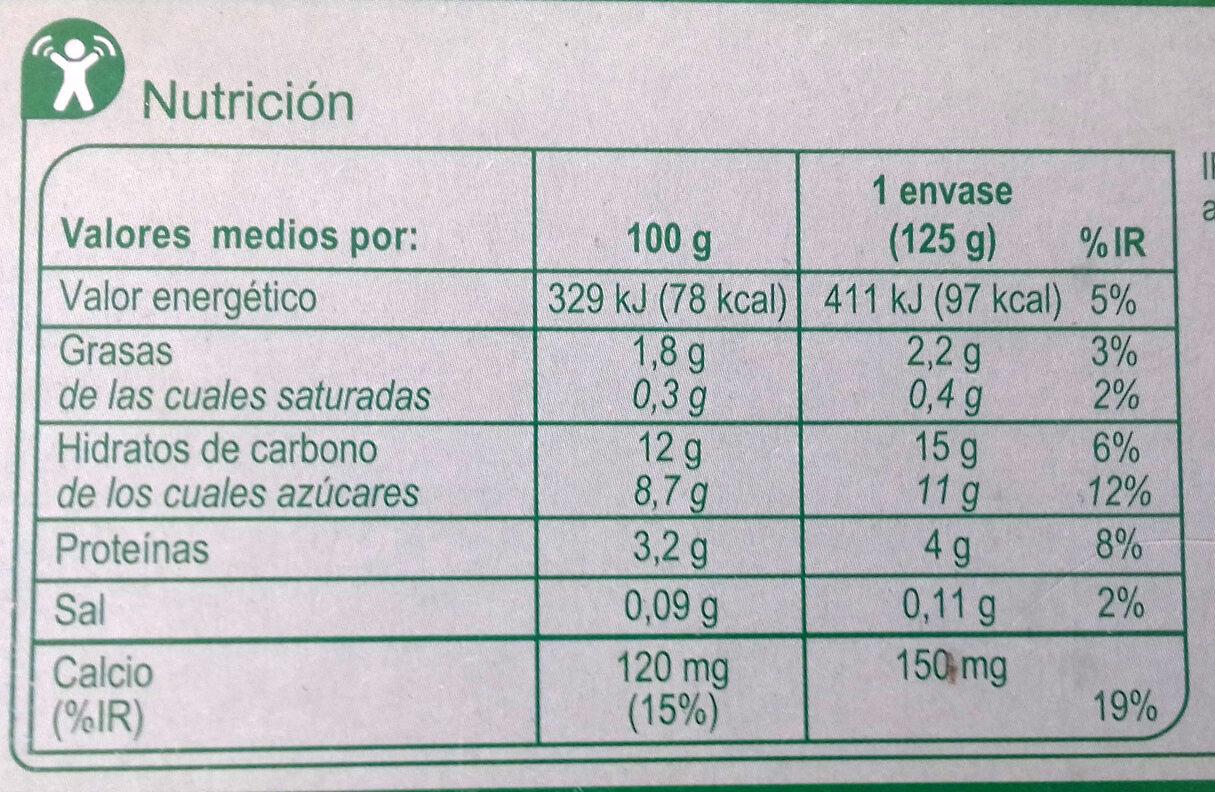 Postre de soja frutos rojos - Información nutricional - es