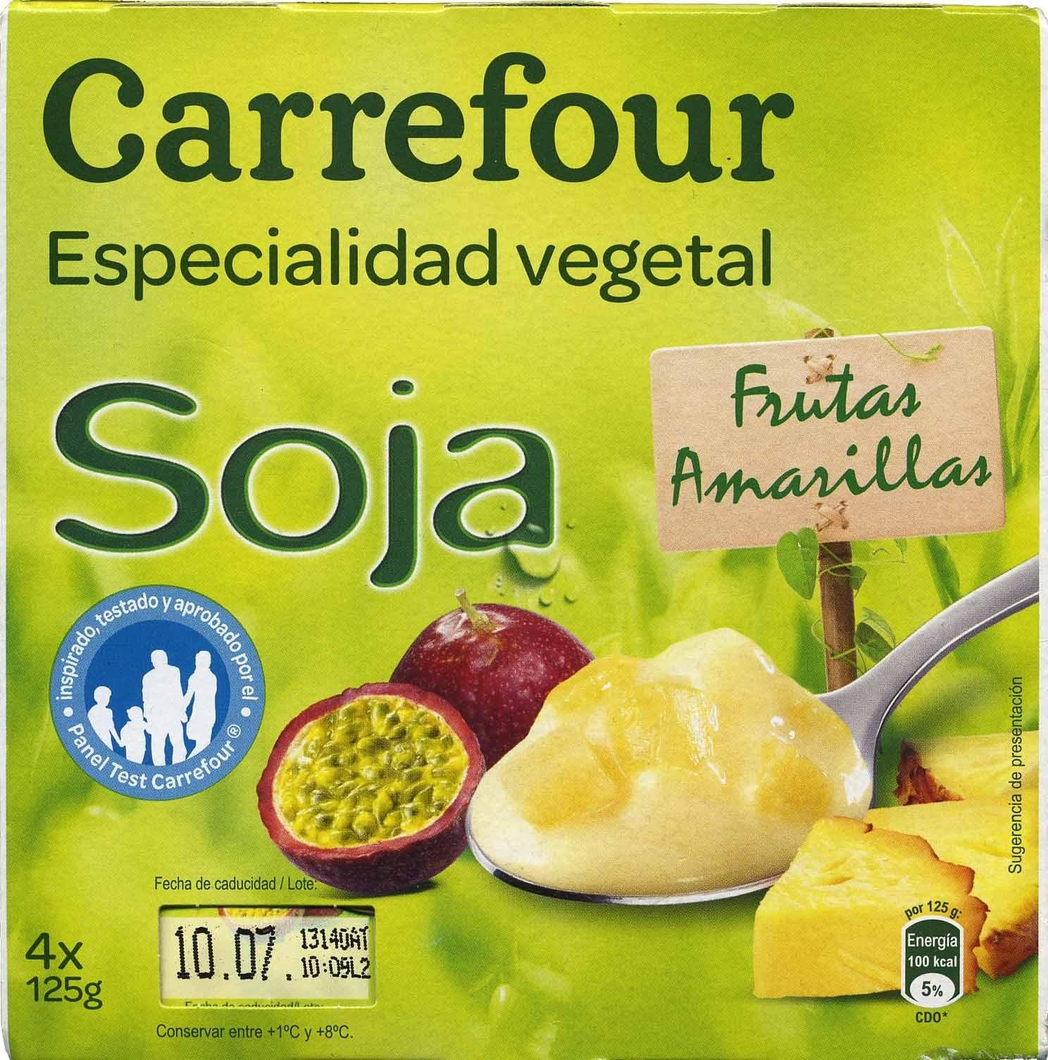 Especialidad vegetal soja frutas amarillas - Produit