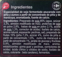 Especialidad vegetal soja frutas amarillas - Ingredients - es