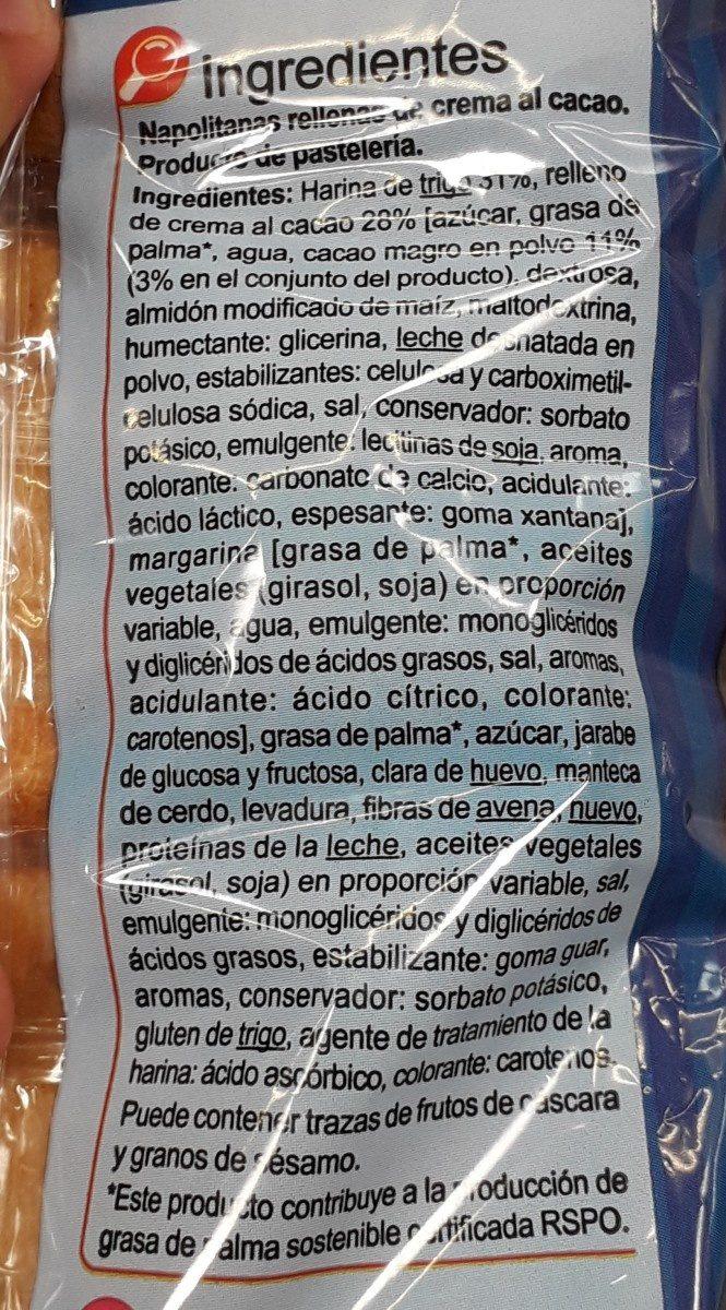 Pain au chocolat - Ingredientes - fr