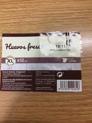 Huevos frescos XL - Nutrition facts - es