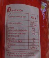Semillas de girasol con cáscara tostadas con sal - Nutrition facts - es