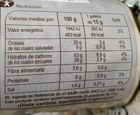 Galletas Digestive Chocolate con Leche - Nutrition facts