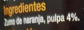 Jus d'orange/zumo de naranja - Ingredientes - es