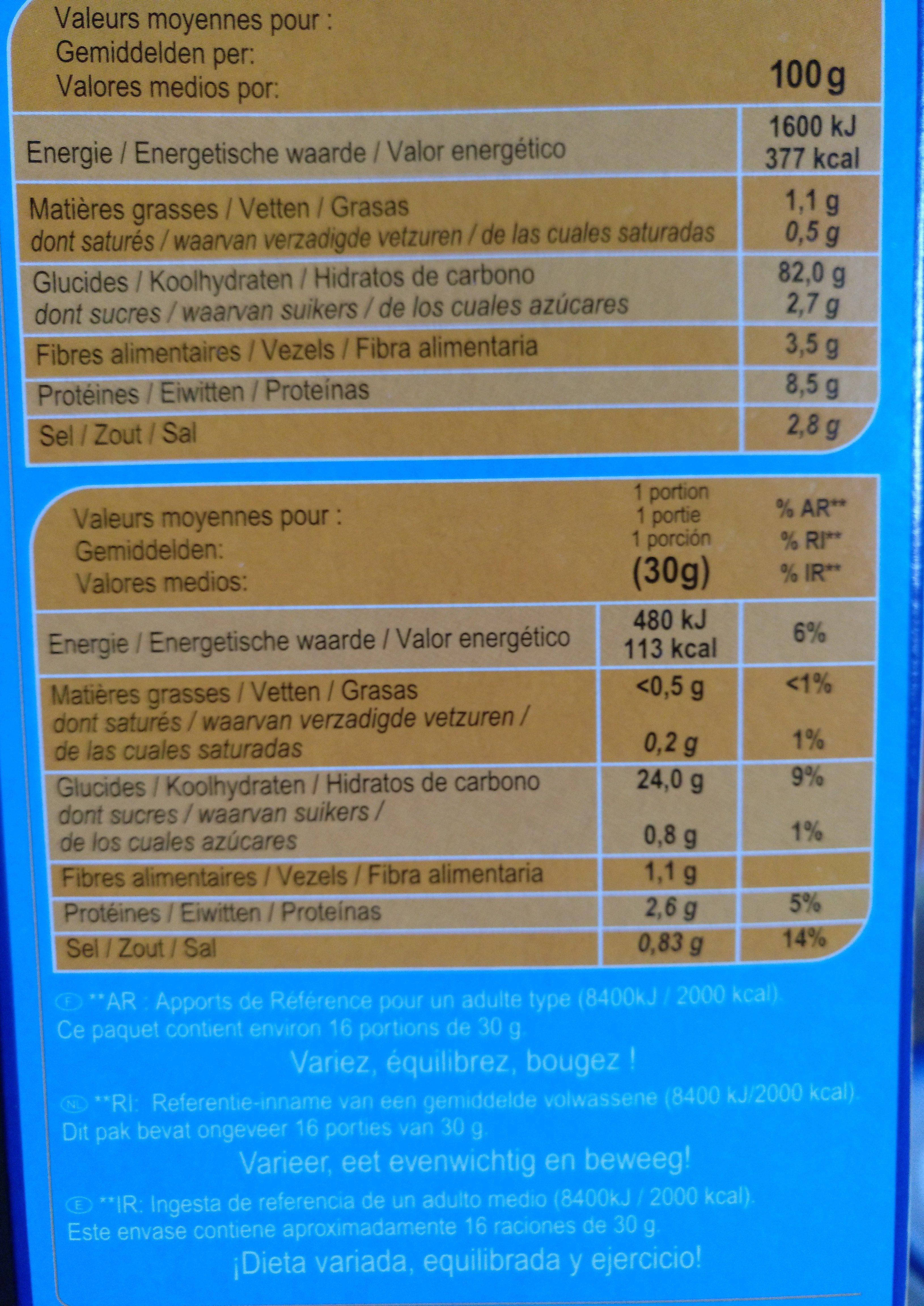 Corn  Flakes - Informació nutricional