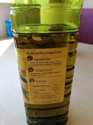 Aceite de oliva virgen extra hojiblanca - Información nutricional