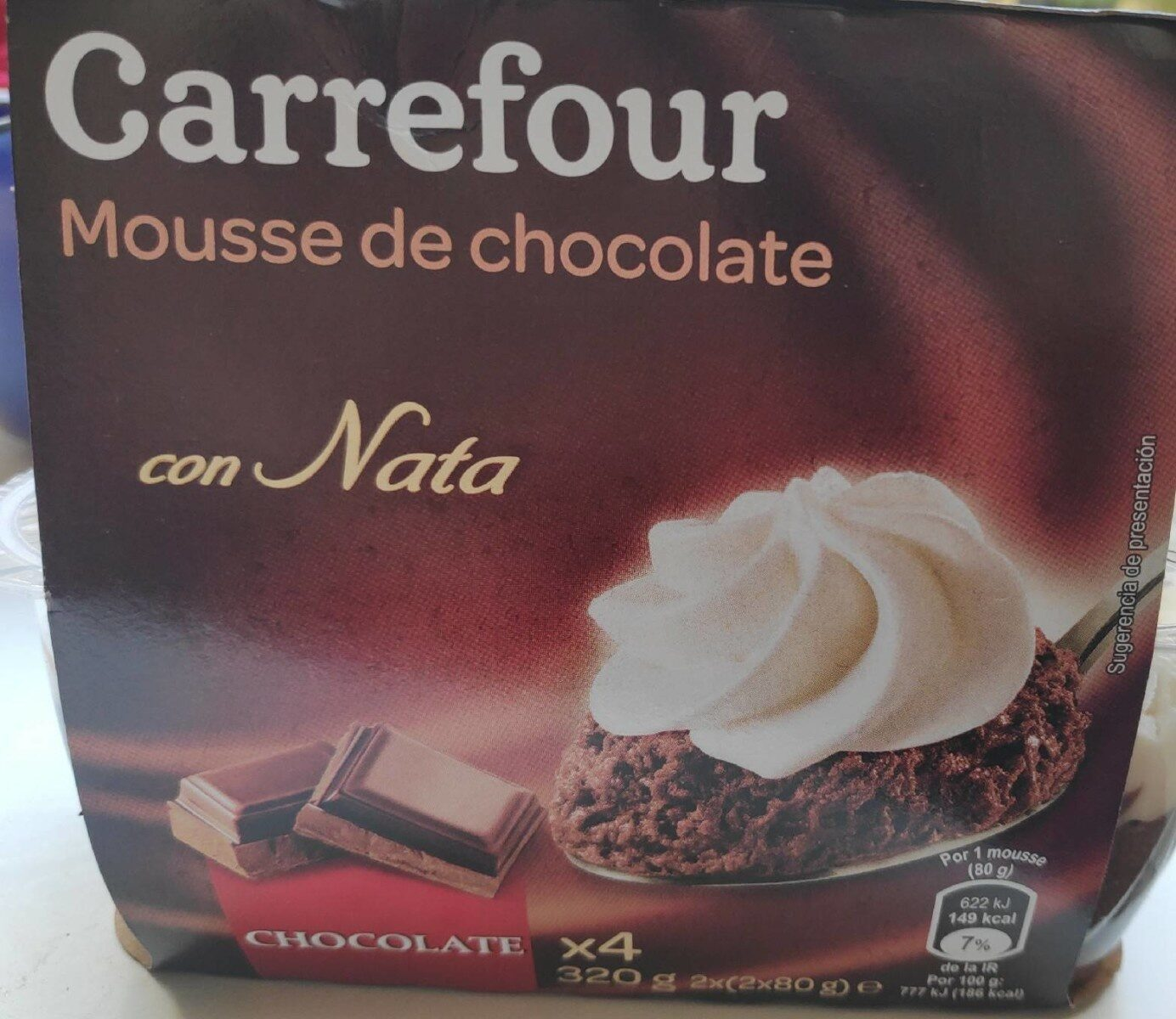 Mousse de chocolate - Producte - es