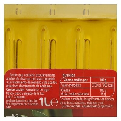 Aceite de oliva suave - Información nutricional - es