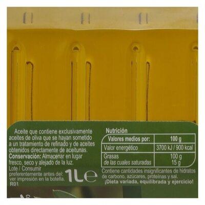Aceite de oliva intenso - Información nutricional
