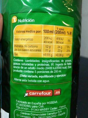 Limonada - Informations nutritionnelles - fr
