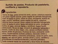 Surtido de pastas - Ingredients - es