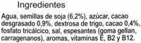Bebida de soja con cacao - DESCATALOGADO - Ingredientes